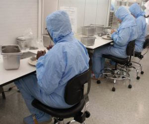 Class 6 Clean Room with Class 5 Clean Benches, meeting ISO 14644-1