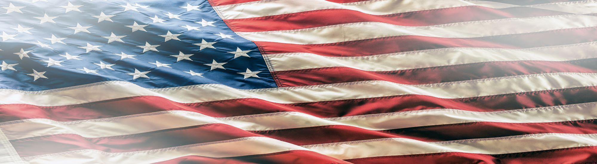 a wavy American flag